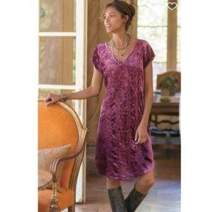 Soft Surroundings- Bohemian Velvet Dress